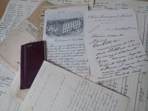 Historical documents from the chateau