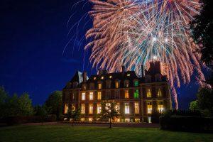 Fireworks over Chateau de la Cazine
