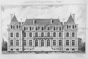 Old drawing of the main Chateau