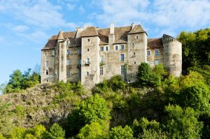 Boussac Castle over the Petite Creuse Valley
